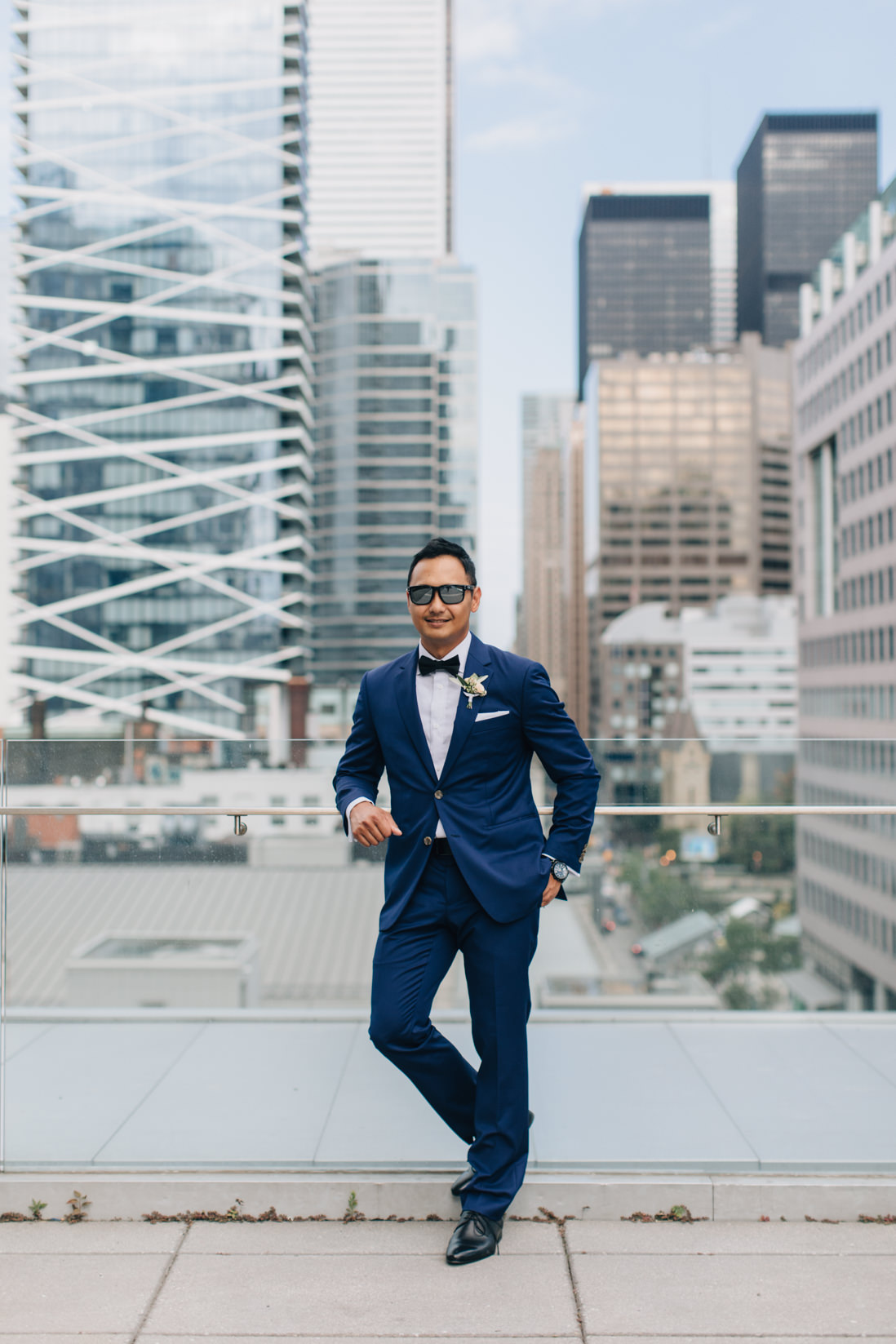 groom at malaparte wedding toronto EightyFifth Street Photography