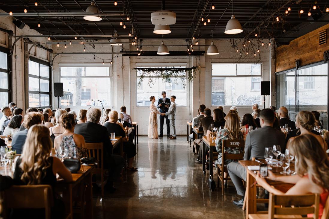 Propeller Coffee Co Wedding ceremony Toronto_EightyFifth Street Photography