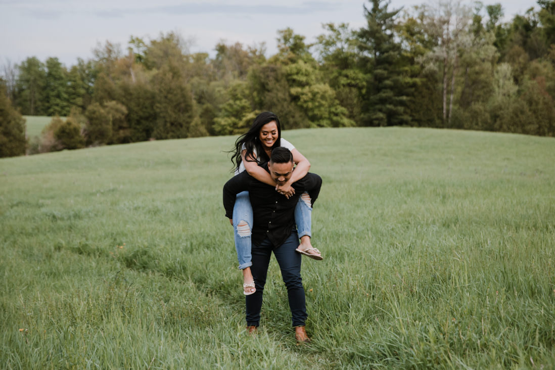piggy back Spring Scotsdale Farm Engagement georgetown halton EightyFifth Street Photography