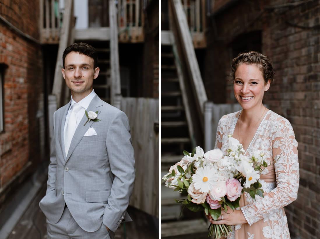 bride and groom urban wedding portraits Toronto_EightyFifth Street Photography