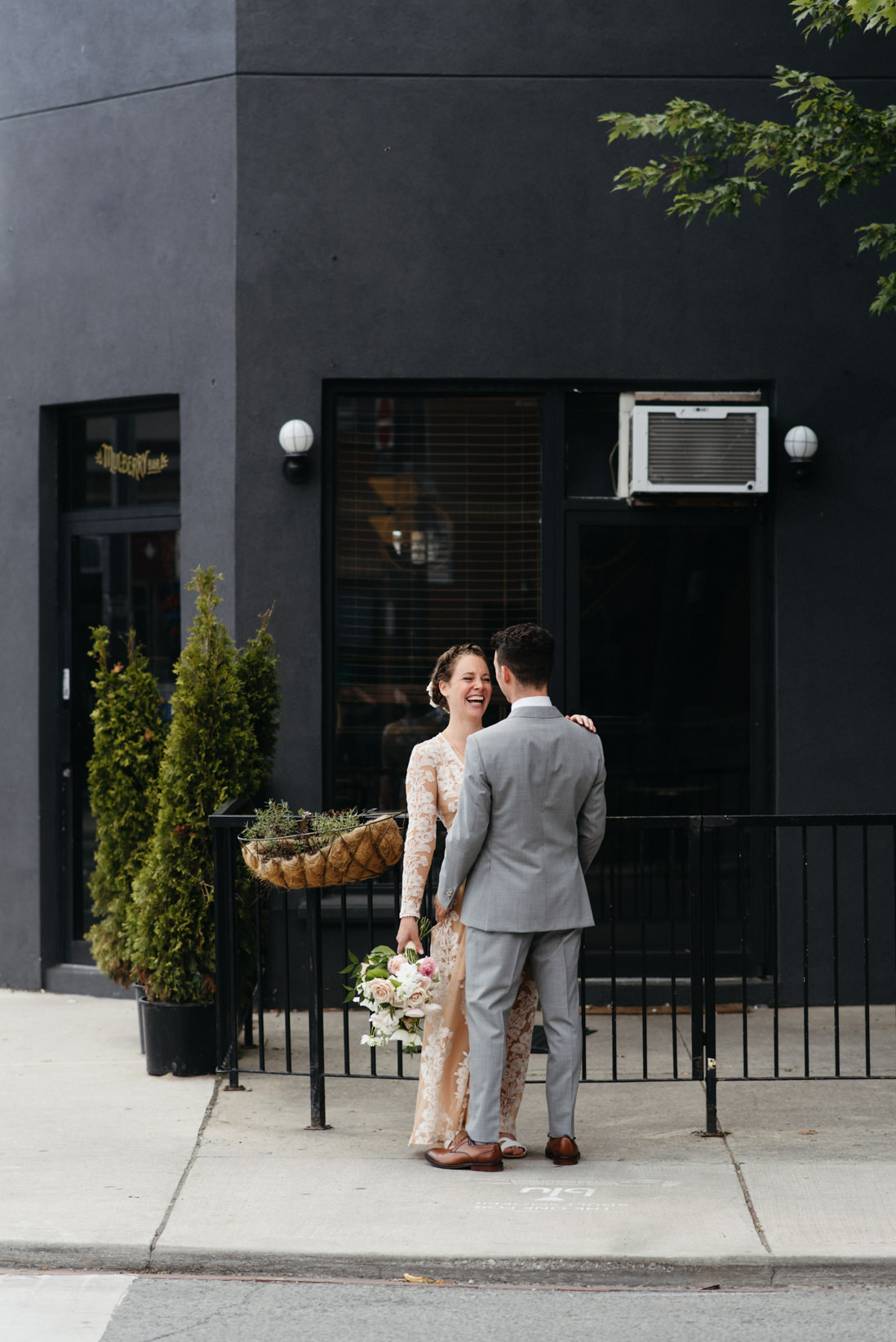streetside wedding portraits toronto dovercourt park duffering grove_EightyFifth Street Photography
