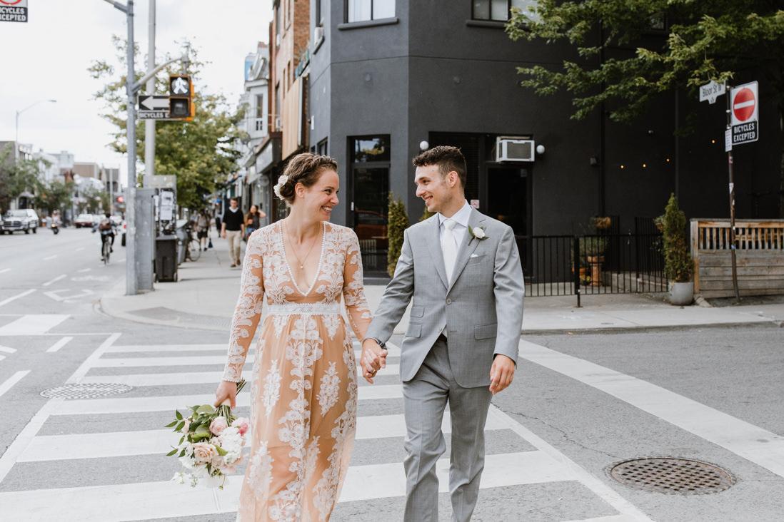 urban wedding portraits in Toronto dovercourt park dufferin grove_EightyFifth Street Photography