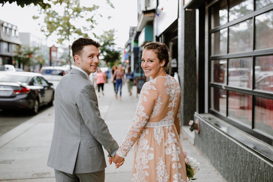 urban wedding portraits in Toronto dovercourt park dufferin grove toronto wedding photographer EightyFifth Street Photography