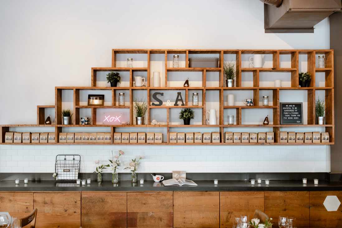 wall decor at Propeller Coffee Co Wedding Toronto_EightyFifth Street Photography