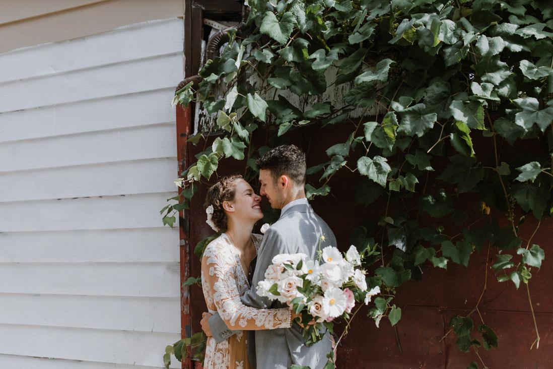 wedding portraits in toronto alley urban wedding EightyFifth Street Photography